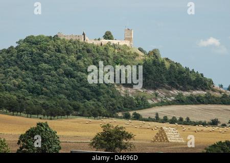Castle Drei Gleichen, a medieval castle ensemble, Thuringia, Germany, eine der drei Burgen in Thüringen, Burg Gleichen - Stock Photo