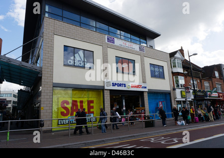 A branch of Sportsdirect.com sportswear shop - Stock Photo