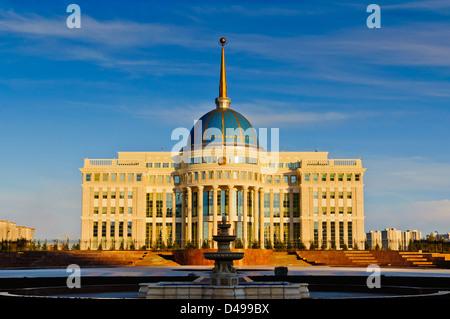 Ak Orda presidential palace in Astana, Kazakhstan - Stock Photo