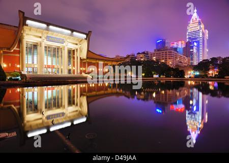 Sun Yat-Sen Memorial Hall in Taipei, Taiwan. - Stock Photo
