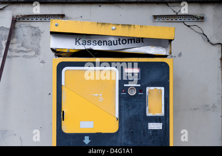 Berlin, Germany, a broken parking pay machine - Stock Photo
