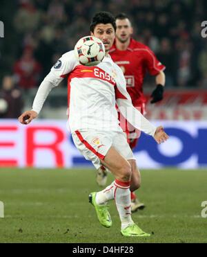 Stuttgart?s Ciprian Marica seen in action during the UEFA Cup group C match VfB Stuttgart vs Standard Liege at Mercedes - Stock Photo
