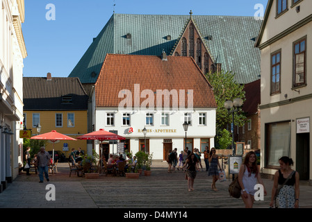 Verden, Germany, pedestrian street in the center of town - Stock Photo