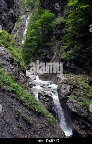 St. Johann, Austria, mountain Grossarler Ache in the Liechtenstein Gorge - Stock Photo