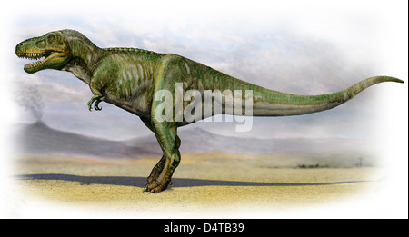 Tarbosaurus bataar, a prehistoric era dinosaur from the Late Cretaceous period. - Stock Photo