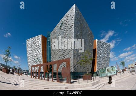 Titanic signature building museum Belfast Ireland quarter project  tourist attraction - Stock Photo