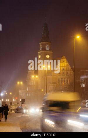Town Hall, Olsztyn, Warmia, Poland - Stock Photo