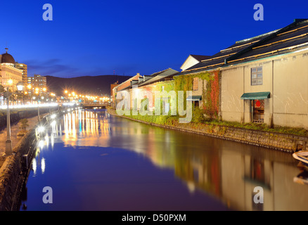 Historic Otaru Canals in Otaru, Hokkaido Prefecture, Japan. - Stock Photo