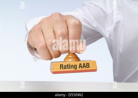 Hamburg, Germany, stamp with the inscription rating AAB - Stock Photo