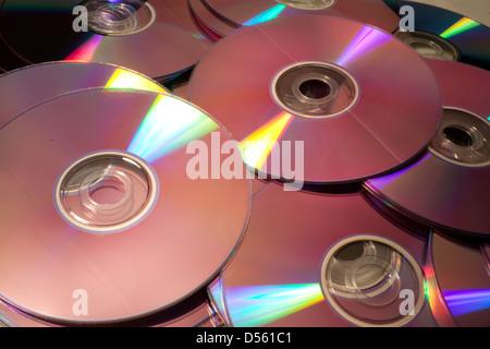 Pile of Compact Discs - Stock Photo