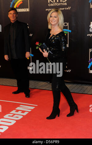 English-born singer and actress Olivia Newton-John arrives for the Radio Regenbogen Award in Karlsruhe, Germany, - Stock Photo