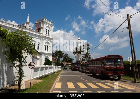 Meeran Jumma mosque in Galle Fort, Sri Lanka is one of the oldest  European settlement in Asia. - Stock Photo