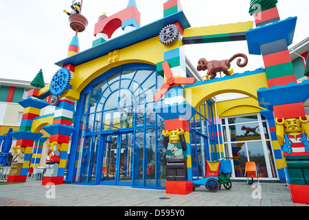 Rear entrance to the Legoland Hotel Windsor UK - Stock Photo