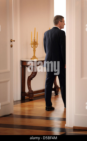 Berlin, Germany, Federal President Christian Wulff, CDU, and his wife Bettina after proclamation of withdrawal - Stock Photo