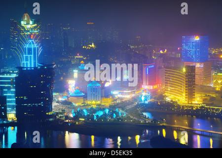 Resort casinos in Macau, China. - Stock Photo