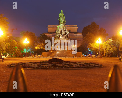 Monument to Catherine the Great in front of the Alexandrinsky Theatre at the White Nights, Saint Petersburg, Russian - Stock Photo