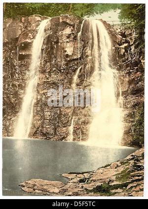 [Ess-na-Crub Fall. Glenariff. County Antrim, Ireland] (LOC) - Stock Photo