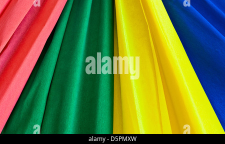 Multi-coloured strips from a paper for decoration - Stock Photo