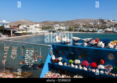 Shells for sale on the Greek Island of Pserimos - Stock Photo