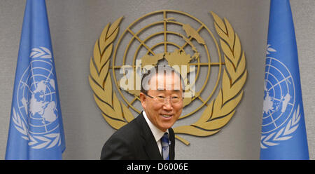 Secretary-General of the United Nations Ban Ki-moon is pictured at the UN building in New York, USA, 07 November - Stock Photo