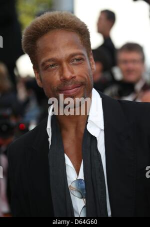 TV personality Gary Dourdan arrives at the premiere of 'Mud' during the 65th Cannes Film Festival at Palais des - Stock Photo