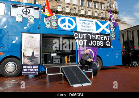 Glasgow, Scotland, United Kingdom  13 April 2013. Anti Nuclear weapons and Anti Trident march and demonstration - Stock Photo