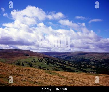 Addlebrough Fell Wensleydale Yorkshire Dales National Park England - Stock Photo