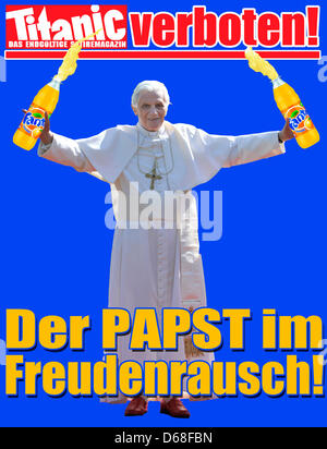 HANDOUT - A handout file dated 11 July 2012 shows the cover picture of the home page of German satirical magazine - Stock Photo