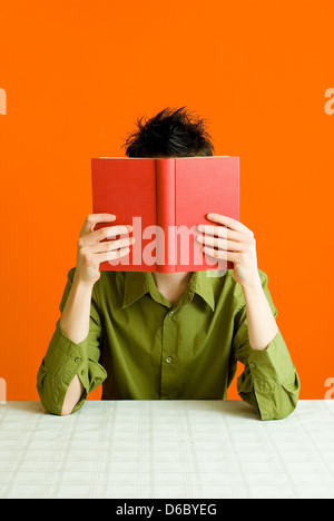 man,book,reading,bookworm - Stock Photo