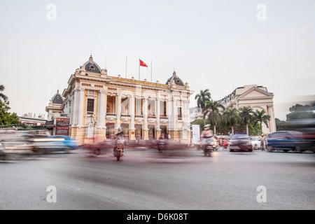 Hanoi Opera House, Hanoi, Vietnam, Indochina, Southeast Asia, Asia - Stock Photo