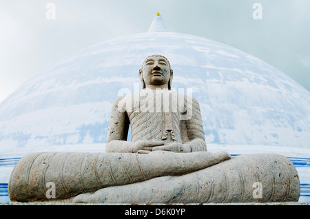 Thuparama Dagoba, Anuradhapura, UNESCO World Heritage Site, North Central Province, Sri Lanka, Asia - Stock Photo