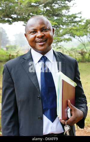 African business man in suit. - Stock Photo