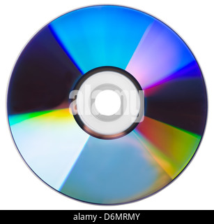 CD disk isolated on a white background - Stock Photo