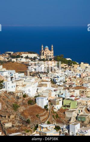 Ermoupoli (Khora), Syros Island, Cyclades, Greek Islands, Greece, Europe - Stock Photo