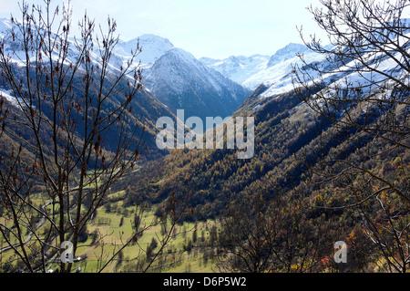 Pyreneean valley near Bagneres de Luchon, Hautes-Pyrenees, France - Stock Photo