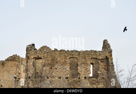Civil war ruins, Mostar, Bosnia and Herzegovina - Stock Photo