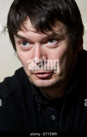 Scottish author Ian Rankin, at The Oxford Bar, Edinburgh, favoured by his fictional character Detective Inspector - Stock Photo