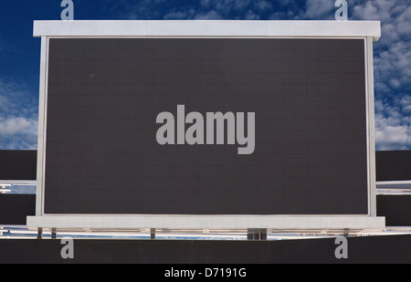 outdoor television screen monitor - Stock Photo