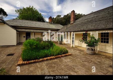 Treaty House at Waitangi Ground, Paihia New Zealand - Stock Photo