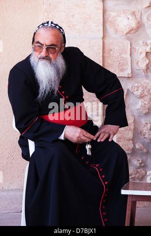 Mor Timotheus Samuel Aktas Metropolitan Archbishop of Tur Abdin. Mor Gabriel Monastery, Eastern Turkey - Stock Photo