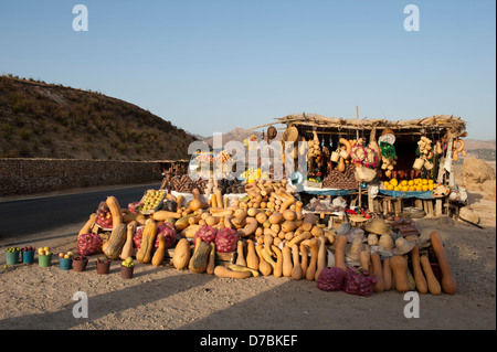 Stall on roadside in Morocco - Stock Photo