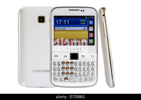 Samsung Galaxy Y Pro B5510 is a Android smart phone with full QWERTY keyboard candybar. - Stock Photo