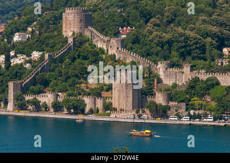 Rumelihisari (Rumelian Castle) is a fortress located in the Sariyer district of Istanbul,Turkey - Stock Photo