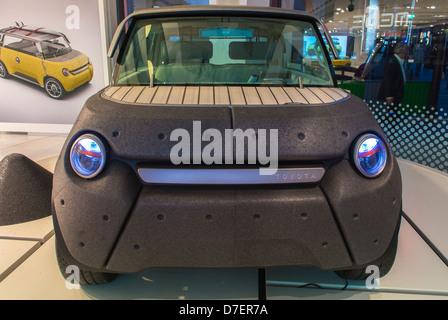 Paris, France, Toyota Corporation, New Car Showroom, Inside Store, 'Me.We' Electric Concept Car, Design by: J.M. - Stock Photo