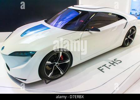 Paris, France, Toyota Corporation, New Car Showroom, Inside Store, Hybrid Concept Car 'FT-HS' (2007) - Stock Photo