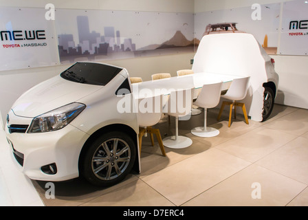 Paris, France, Toyota Corporation, New Car Showroom, Inside Store, Car Design Conference Table - Stock Photo