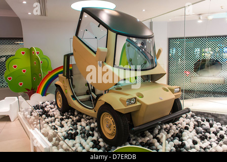 Paris, France, Toyota Corporation, New Car Showroom, Inside Store, Electric Concept Cars, 'Camatte' global green - Stock Photo
