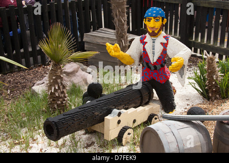 Lego pirate at Legoland, Windsor, Berkshire, England , United Kingdom. - Stock Photo