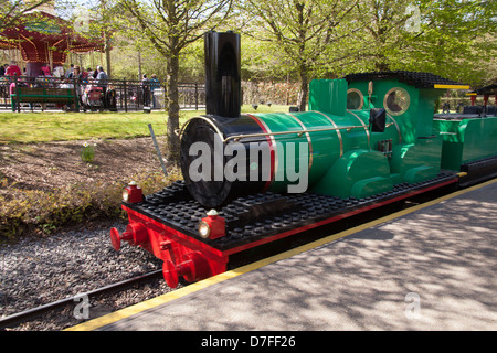 Orient Expedition steam train ride at Legoland Windsor, England - Stock Photo
