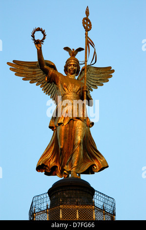 Europe, Germany, Berlin, victory column, Siegessäule - Stock Photo